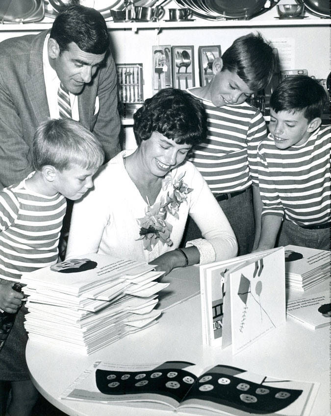 Book signing, The Thinking Book, 1960